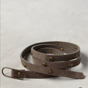 NWT Anthropologie skinny bee leather belt sL